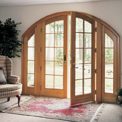 Garden Patio wood doors